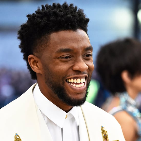 Chadwick Boseman's Glitter Hair at the 2018 Met Gala