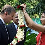 Prince Andrew Andrew visited the country on behalf of the queen in her Diamond Jubilee year. He started in New Delhi by visiting a youth project before moving on to a school, one of Asia's biggest slums in Mumbai, a children's home in Kolkata, and a war cemetery in Chennai, before supporting local industry in Bangalore.