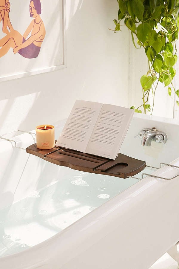 umbra me time bamboo bath tray caddy - Bathroom Tray