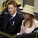 With Prince Harry at the Queen's Golden Jubilee celebration in 2002.