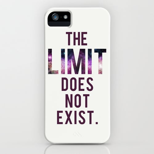 """""""The limit does not exist"""" iPhone/Galaxy S5 case ($35)"""