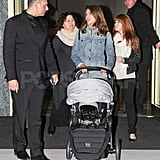 Jessica Alba out shopping with Haven in Milan.