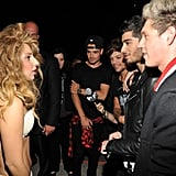 One Direction Meeting Lady Gaga at the MTV VMAs in 2013