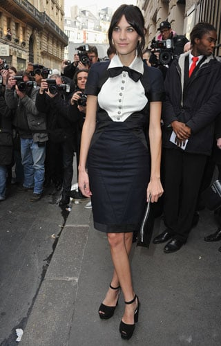 Pictures of Alexa Chung in Tuxedo Dress at 2011 Paris Haute Couture Fashion Week 2011-01-25 10:07:05