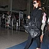 Mama-to-Be Ashlee Simpson-Wentz Takes Flight