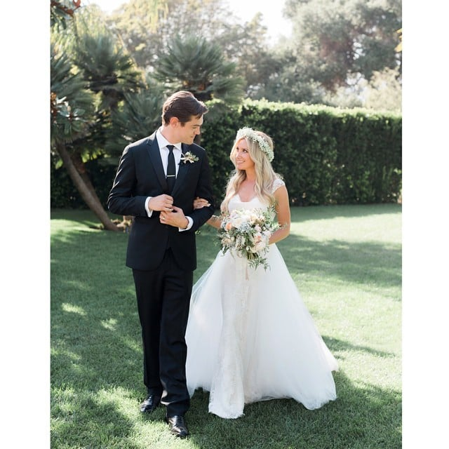 """Ashley shared this snap of her and Chris at their wedding, writing, """"Best day of my life! Introducing Mr and Mrs French Sept 8, 2014."""""""