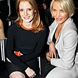 Jessica Chastain and Cameron Diaz spent the morning in Paris.