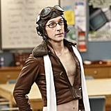 Dean Pelton (Jim Rash) goes for a sexy Amelia Earhart vibe.