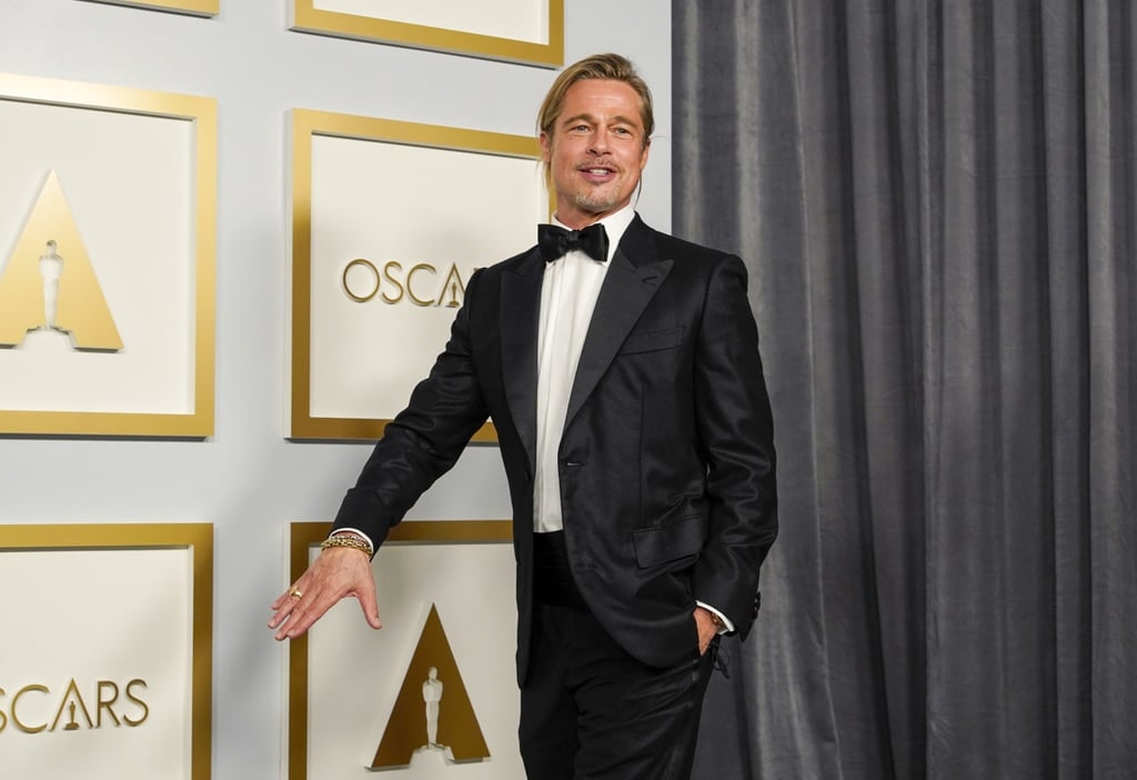 See Brad Pitt's Man Bun at the 2021 Oscars