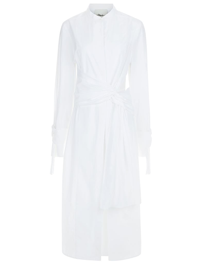3.1 Phillip Lim White Knot Sleeve Shirt Dress ($575)