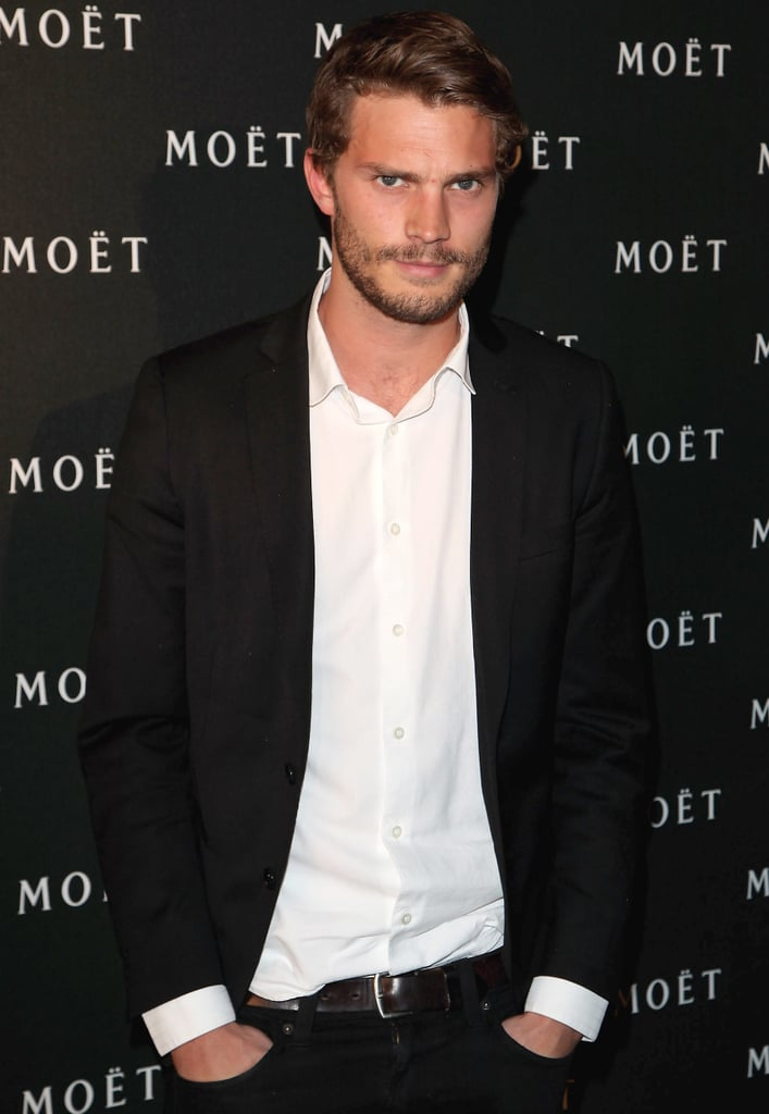 Jamie Dornan The 31-year-old British star is reportedly on the shortlist to replace Charlie Hunnam as Christian, and we're enthusiastic about the idea. He may not be super well-known yet (he had a memorable stint as Sheriff Graham on Once Upon a Time), but he's gorgeous and has that necessary air of mystery.