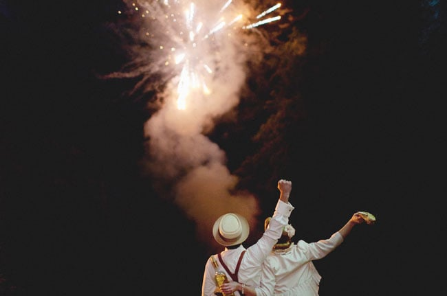 A Tennessee outdoor big day had a sparkling finish with a fireworks display.