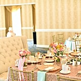 Locate (or DIY!) gold-backed chairs for the reception.