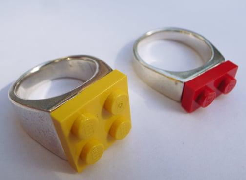 Lego Block Rings