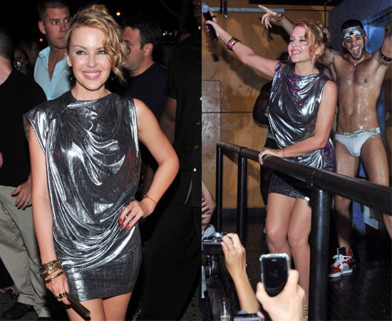 Pictures of Kylie Minogue at Splash Bar in New York