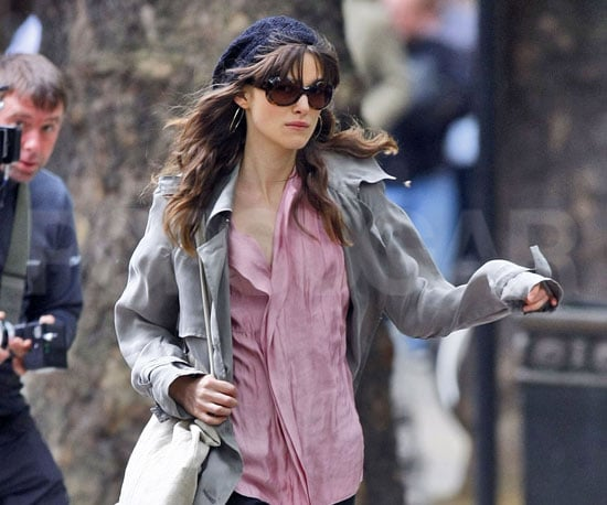 Slide Photo of Keira Knightley in London Shooting a Movie