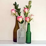Frosted-Bottle Vases