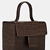 Steven Alan Meryl Crocodile-Stamped Leather Box Bag