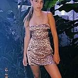 An Animal-Print Silk Dress