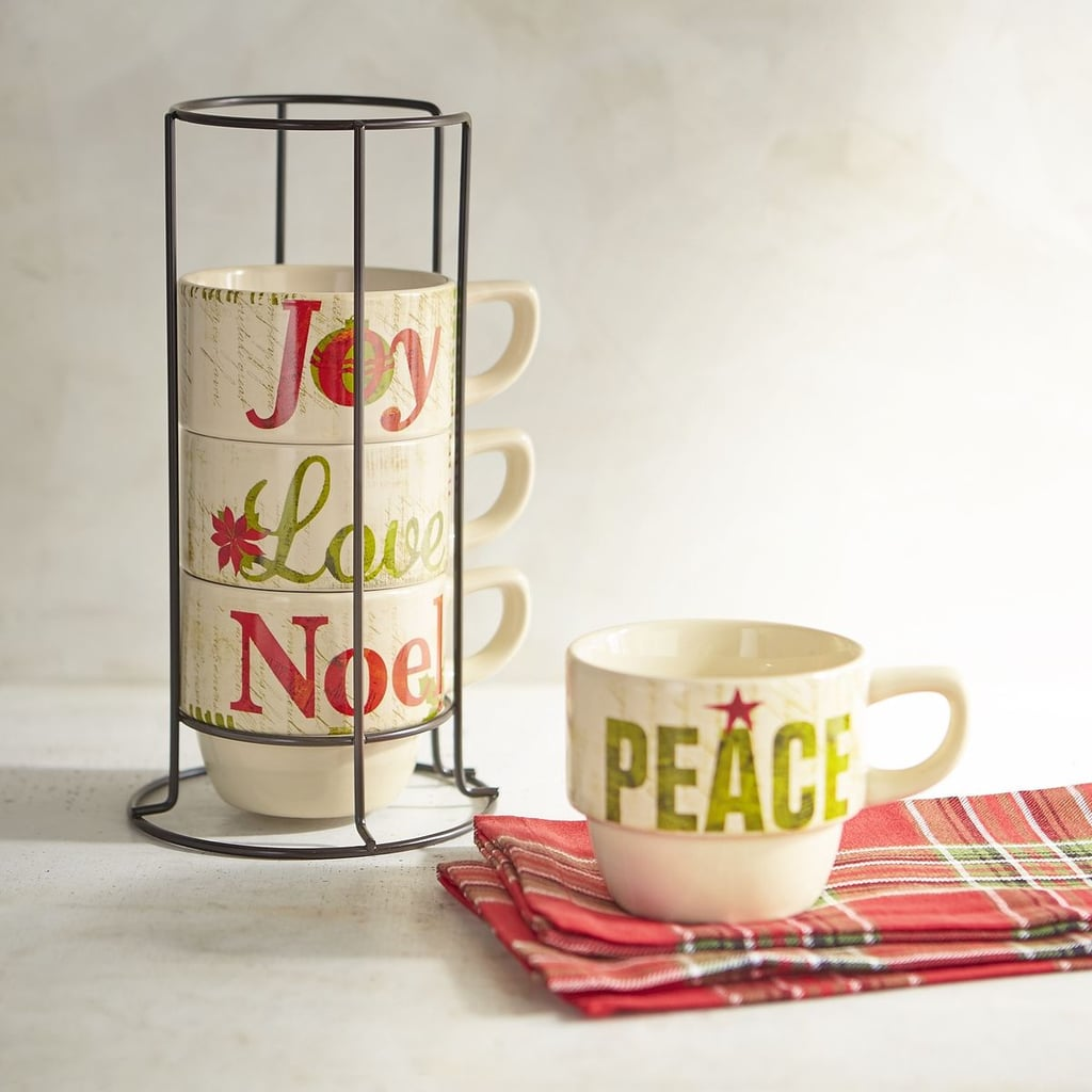 Glad Tidings Stackable Coffee Mug Set ($16, originally $20)