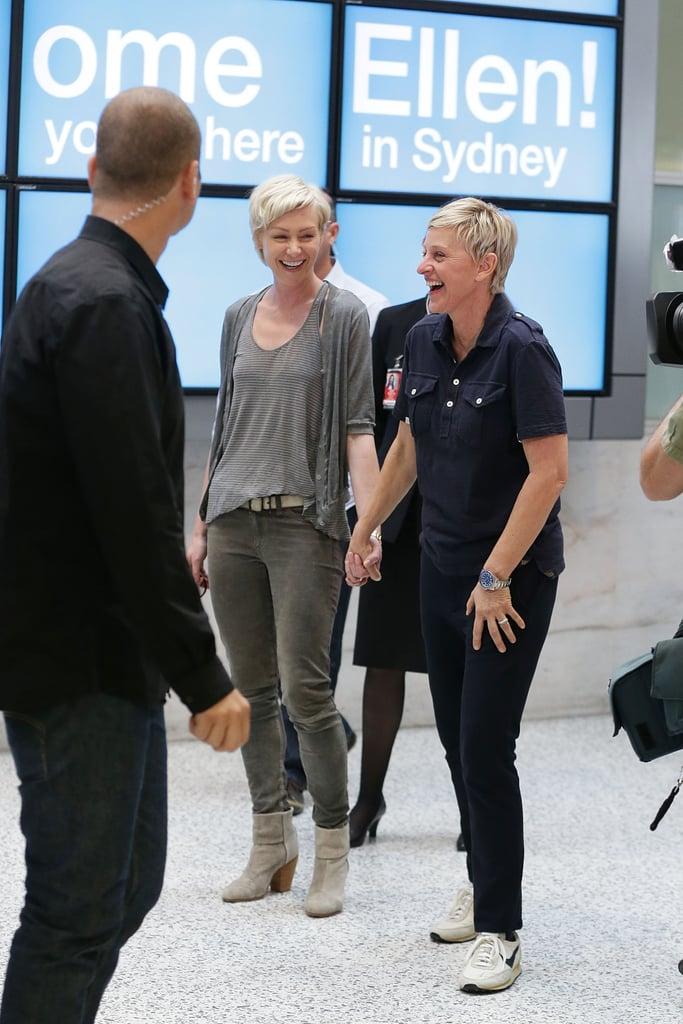 Cute Portia de Rossi and Ellen DeGeneres Pictures