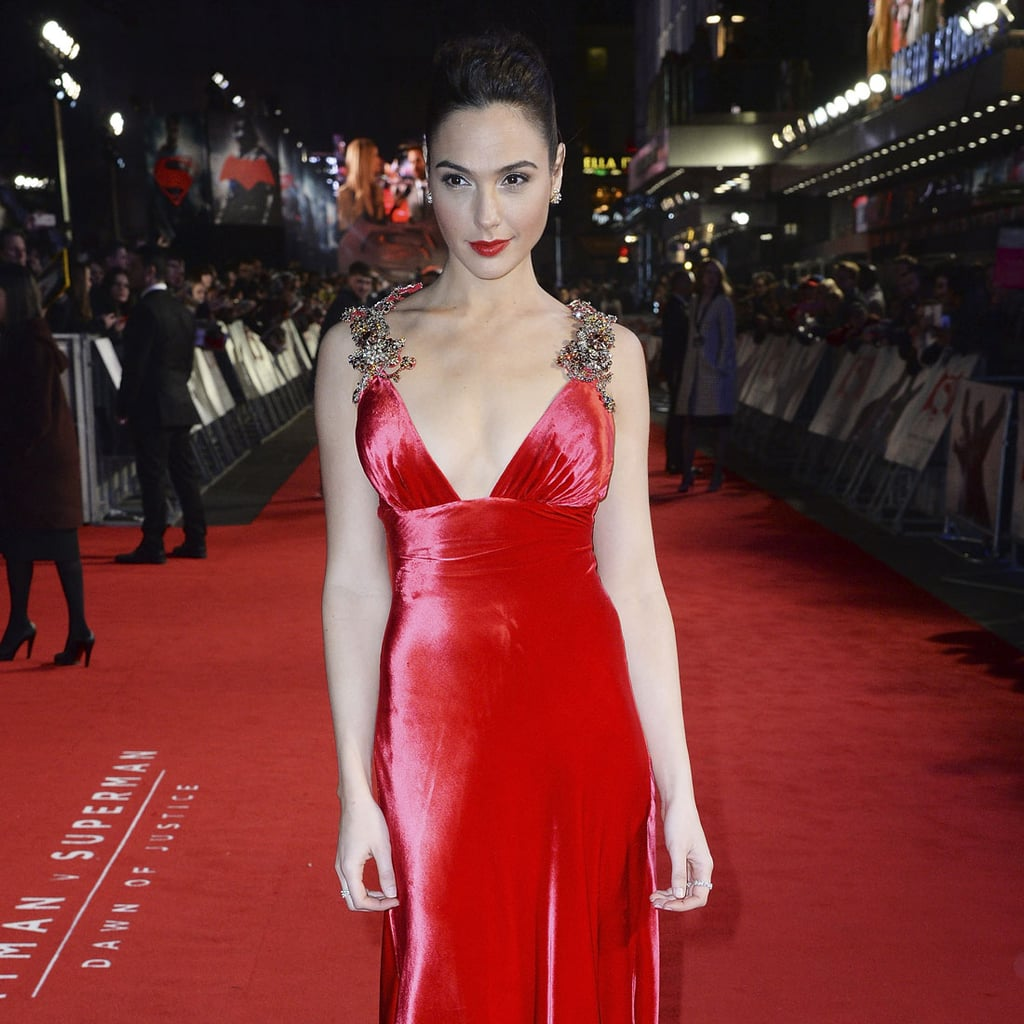Gal Gadot's Dress at Batman v Superman European Premiere