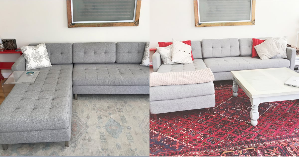 Living Room Rug Before And After Popsugar Home