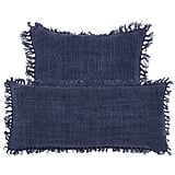 White Walkers: Laundered Linen Indigo Decorative Pillow