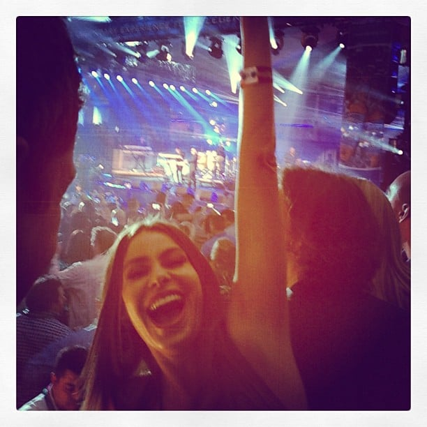 Sofia Vergara danced to Pitbull during a pre-Super Bowl event in NOLA. Source: Instagram user sofiavergara