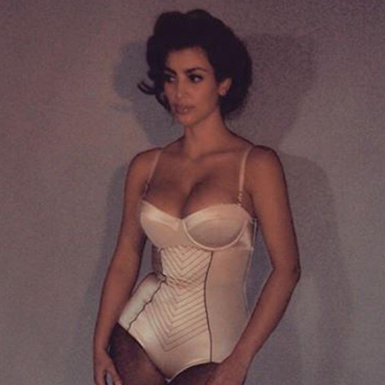 Kim Sexy 7 Photo Kardashian Celebrity Lingerie PicturesPopsugar RcjS54AL3q