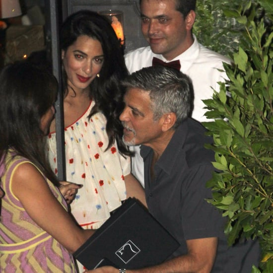 Amal Clooney's Floral-Print Dress in Italy