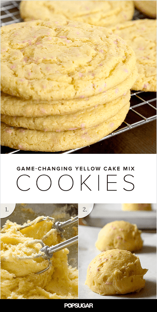Yellow Cake Batter Cookies