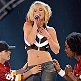 She Drew Attention to the Signature Look When She Performed on Stage in 2003