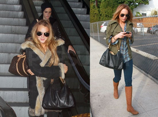 Lindsay Lohan and Samantha Ronson in LA Blogging About Britney Spears