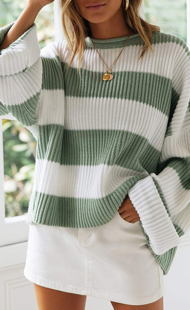 A Comfortable Striped Sweater