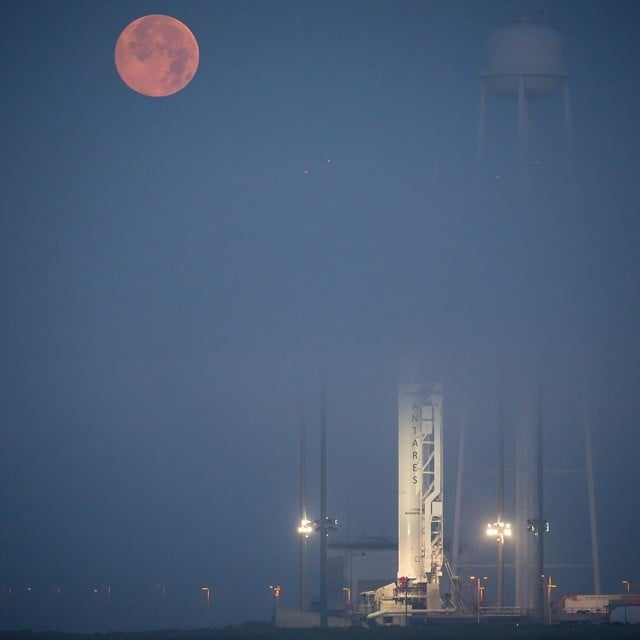 NASA's Wallops Flight Facility in Virginia had a perfect view of the supermoon ahead of the Antares rocket launch on July 12.  Source: Instagram user NASA