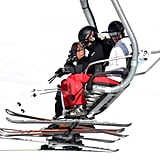 Kate Middleton and Prince William spent some time together on the chairlift while on vacation in France.