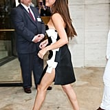 Selena wore a bow-adorned Lanvin minidress for the American Ballet Theatre's Spring Gala in 2014. From the front, the LBD looked simple, but when she turned to the side, a higher hemline added oomph.
