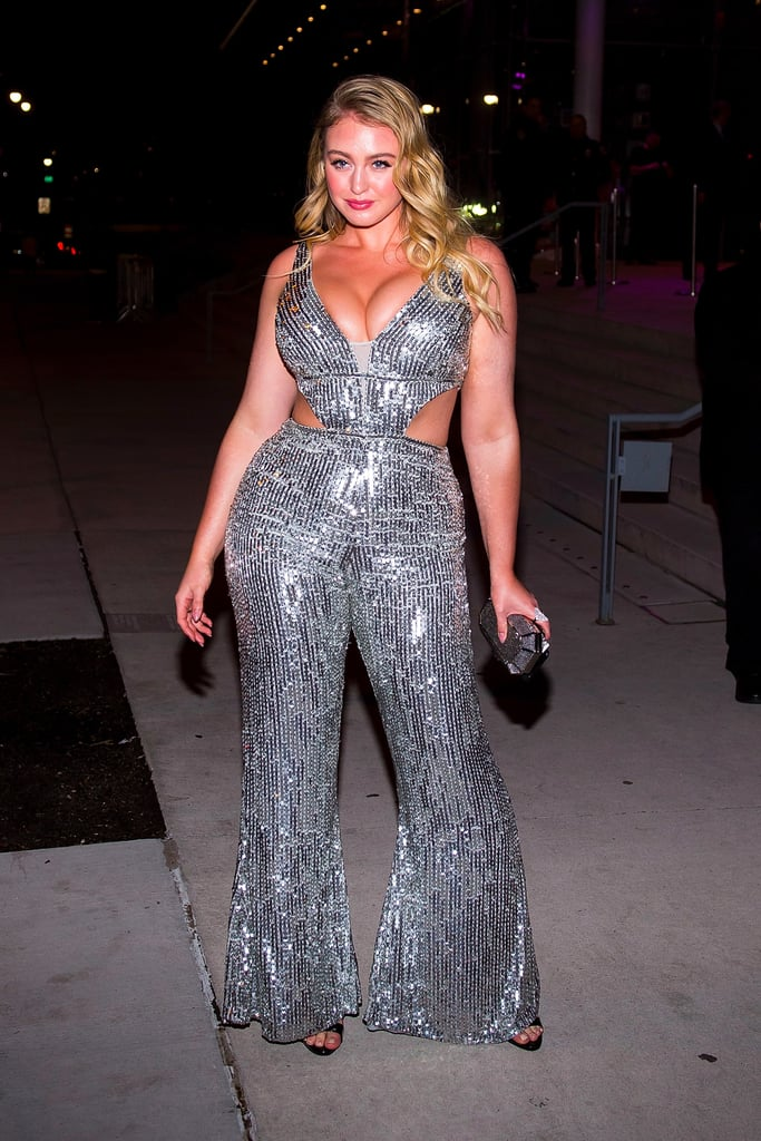 Iskra Lawrence Sequined Jumpsuit at Grammys Afterparty 2018
