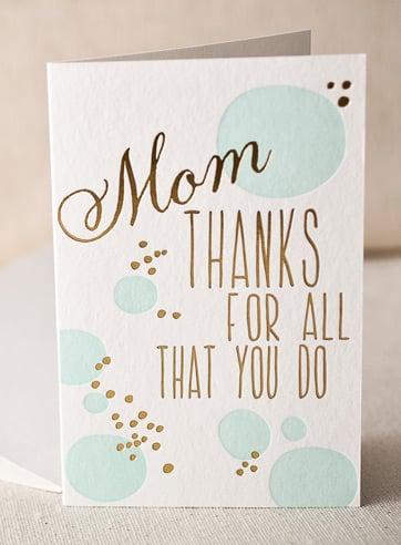 Thanks, Mom!