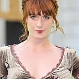 Rock star Florence Welch's fiery auburn hair matches her equally mesmerizing voice. We also love how she always accentuates her colour with a plait on stage.