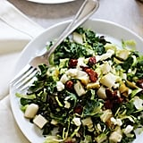 Brussels Sprout and Kale Salad With Gorgonzola, Pear, and Pancetta