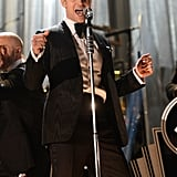 Justin Timberlake danced during his Grammys performance.