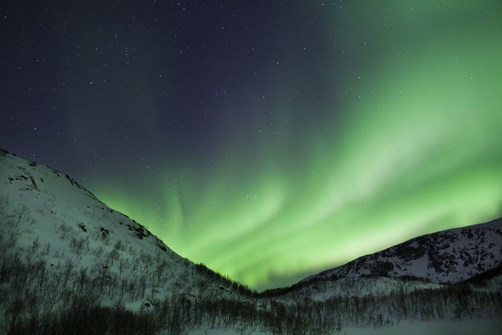 The aurora borealis made for stunning light over Norway's Arctic Circle in March 2012.