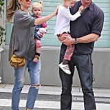 Eric Dane and Rebecca Gayheart had a family day in LA.