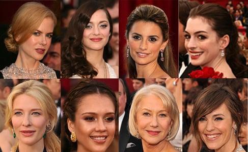 2008 Oscars hair and makeup: Nicole Kidman, Marion Cotillard, Jessica Alba, Penelope Cruz