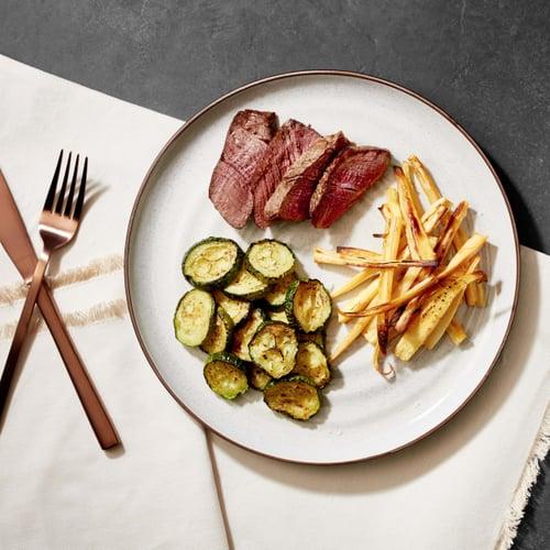 Dinner: Steak + Parsnip Fries