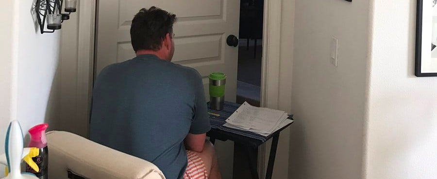 The Tearjerking Reason This Man Sat Outside His Wife's Bedroom For Days