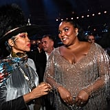 Erykah Badu and Lizzo at the 2020 Grammys