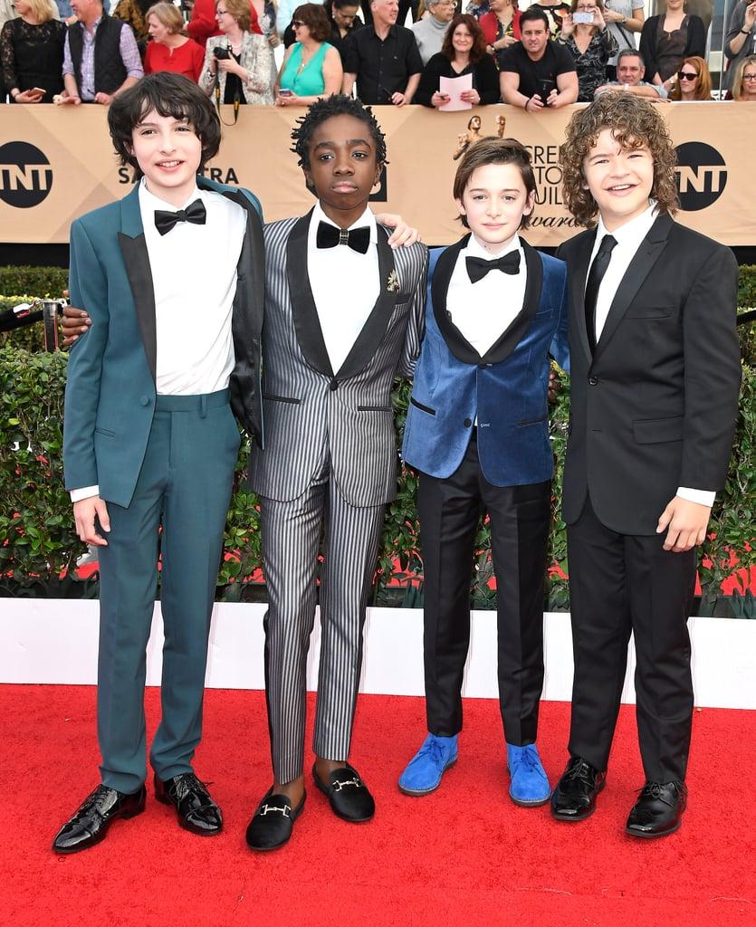 Stranger Things Cast At The 2017 Sag Awards  Popsugar